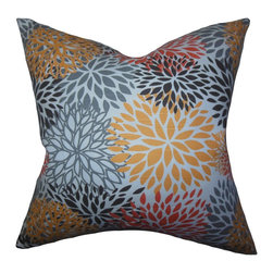 "The Pillow Collection - California Floral Pillow Yellow 18"" x 18"" - Floral blossoms adorn this refreshing accent pillow which is perfect for your living room or bedroom. This accent pillow introduces a cheery vibe with its vibrant pattern in shades of yellow, gray, pink and blue. This 18"" pillow is made of 100% plush cotton fabric and crafted in the USA. Hidden zipper closure for easy cover removal.  Knife edge finish on all four sides.  Reversible pillow with the same fabric on the back side.  Spot cleaning suggested."