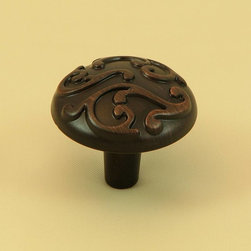 Stone Mill - Stone Mill Hardware Oil Rubbed Bronze Ivy Cabinet Knobs (Pack of 10) - Add a clean, refined look to your home decor with these cabinet knobs from Stone Mill. These round cabinet knobs feature an elegant raised swirl pattern and are finished in a beautiful oil rubbed bronze.