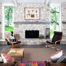 Contemporary Living Room by Amity Worrel & Co.