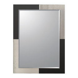 Decor Wonderland - Jasmine Modern Bathroom Mirror - 23.6W x 31.5H in. Multicolor - SSM524 - Shop for Bathroom Mirrors from Hayneedle.com! This beautiful hand made mirror sits atop another mirror creating a framed effect with decorative glass surrounding. The invisible mounting hardware is designed to keep the top and bottom of the mirror flush against the wall. Can be hung vertically or horizontally with the included hanging hardware.