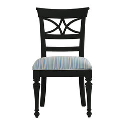 Stanley Furniture - Coastal Living Cottage Sea Watch Side Chair - Deepwater Finish - Combine a filigree back and chamfered legs and you've got reason to sit a little longer. Features a cushioned seat in your choice of five fabrics. Made to order in America.