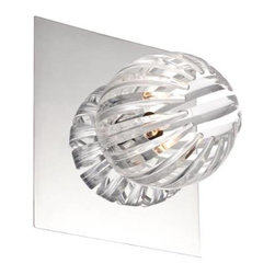 Eurofase - Eurofase 23203-037 Cosmo 1 Light Wall Sconce in Chrome with Clear Shade 23203-03 - Cosmo 1 light wall sconce.Bulb Base: G9 Bulb Type: Halogen Collection: Cosmo Country of Origin: CN Extension: 5-1 2 Finish: Chrome Kit: No Length: 7 Number of Lights: 1 Shade Finish: Clear Voltage: 120 Wattage: 60 Width: 7