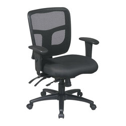Office Star - Office Star ProGrid Back Mid Back Managers Chair with Adjustable Arms - Office Star - Office Chairs - 9289330