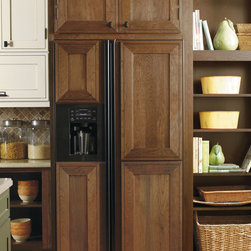 Decora Appliance Panels - Extend the built-in look of cabinetry throughout your kitchen with matching appliance panels from Decora.  Shown here in the Airedale door style.