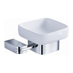 Fresca - Fresca Solido Soap Dish - Chrome - All of our Fresca bathroom accessories are made with brass with a triple chrome finish and have been chosen to compliment our other line of products including our vanities, faucets, shower panels and toilets.  They are imported and selected for their modern, cutting edge designs.