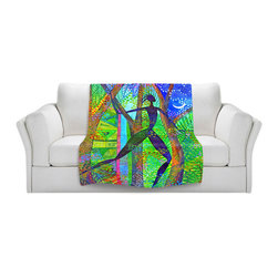 DiaNoche Designs - Fleece Throw Blanket by Jennifer Baird - Night Quest - Original Artwork printed to an ultra soft fleece Blanket for a unique look and feel of your living room couch or bedroom space.  DiaNoche Designs uses images from artists all over the world to create Illuminated art, Canvas Art, Sheets, Pillows, Duvets, Blankets and many other items that you can print to.  Every purchase supports an artist!