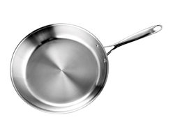 Cooks Standard - Cooks Standard 12-Inch Multi-Ply Clad Stainless Steel Fry Pan, NC-00236 - Cooks Standard Multi-Ply Clad Stainless cookware features Air-Flow Technoledge makes handle stay cooler than normal handle type. Constructed of clad metal of 3 layer: Interior lining is premium grade 18-10 stainless steel, core made of Multi-element Alloy Aluminum for superior heat distribution, the core of aluminum goes from bottom all the way to side wall, Bottom is scratch resistant brushed treatment, compatible to induction stovetop, This Cookware is dishwasher safe. Oven safe to 500-Fahrenheit.