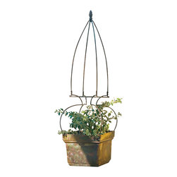 H Potter - H Potter Hoop Skirt Lawn Ornamnet - This shapely trellis will be the belle of the ball in your garden. It's crafted of iron in a dark brown, powder-coated finish to stand up to the elements. Stake it in your garden soil or in a similarly sized planter (not included).
