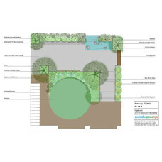 Contemporary Site And Landscape Plan by Outside Space NYC Landscape Design