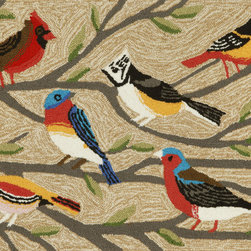 """Trans-Ocean - 20""""x30"""" Frontporch Birds Multi Mat - Richly blended colors add vitality and sophistication to playful novelty designs.Lightweight loosely tufted Indoor Outdoor rugs made of synthetic materials in China and UV stabilized to resist fading.These whimsical rugs are sure to liven up any indoor or outdoor space, and their easy care and durability make them ideal for kitchens, bathrooms, and porches. Made in China."""