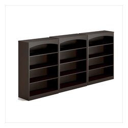 Mayline - Mayline Brighton 4 Shelf Wall Bookcase in Mocha - Mayline - Bookcases - BTB4S36LDCPKG - Mayline Brighton 4 Shelf Bookcase in Mocha (included quantity: 3)