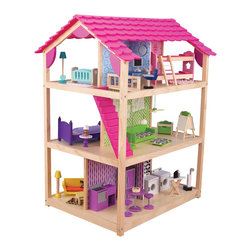 "KidKraft - Kidkraft Kids Home Indoor Pretend Play Imaginative Toy So Chic Dollhouse - Our So Chi Dollhouse can be played from all 4 open sides and features an extraordinary amount of detail, that every little girl wall love. Age Range: 3 Plus. Dimension: 34.25""27.25""x46.25"""