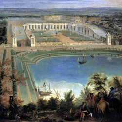 """Jean-Baptiste Martin View of the Orangerie (detail)   Print - 16"""" x 20"""" Jean-Baptiste Martin View of the Orangerie (detail) premium archival print reproduced to meet museum quality standards. Our museum quality archival prints are produced using high-precision print technology for a more accurate reproduction printed on high quality, heavyweight matte presentation paper with fade-resistant, archival inks. Our progressive business model allows us to offer works of art to you at the best wholesale pricing, significantly less than art gallery prices, affordable to all. This line of artwork is produced with extra white border space (if you choose to have it framed, for your framer to work with to frame properly or utilize a larger mat and/or frame).  We present a comprehensive collection of exceptional art reproductions byJean-Baptiste Martin."""