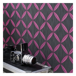 Graham & Brown - Anis Wallpaper - This Anis wallpaper design is sure to provide a level of intrigue to your walls through its visually impressive nature. The piece itself features an interesting lattice geometric with fine mica chevron detailing and is then finished with a sinewy linear emboss to add an organic twist. This design is also available in two other colour schemes, each with their own individual atmosphere and suitable for a range of differing home design styles.