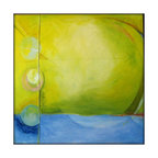 Large Abstract Original Painting Canvas Modern Acrylic Painting - 40x40 - Yellow - Each painting is unique and hand painted.  Design might slightly vary.