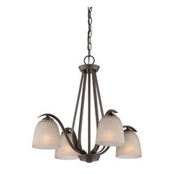 Quoizel - Quoizel RL5104WT Radcliff 4 Light Chandelier - The Radcliff series wil add distinction above a dining table or casual seating area.  The pard-down style has a timeless look with soft curves and versatile western bronze finish.