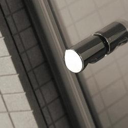 stainless steel shower accessories - Ergonomic knob for glass door