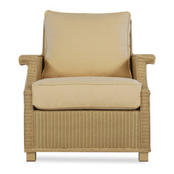 Hamptons Lounge Chair - Scaled for comfort with classic wicker styling, the Hamptons Lounge Chair is the perfect spot to relax and unwind.