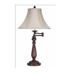 CAL Lighting - Regency Collection Swing Arm Table Lamp by Universal Lighting and Decor - 150W 3 WAY SWING ARM TABLE LAMP