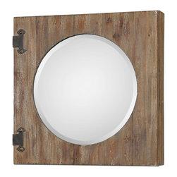 Joshua Marshal - Aged Wood Gualdo Aged Wood Mirror Cabinet - Aged Wood Gualdo Aged Wood Mirror Cabinet