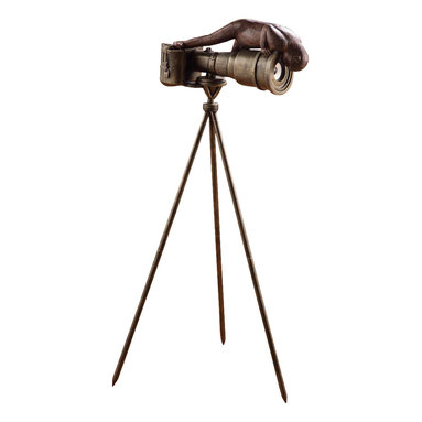 "SPI - Monkey Cameraman with Bluetooth Speaker - -Size: 41"" H x 16"" W x 14"" D"