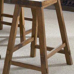 Liberty Furniture - Creations II Casual Dining 19 in. Sawhorse Ba - Made from Hardwood. Nylon chair glides. 19 in. W x 16 in. D x 24 in. H (15 lbs.)