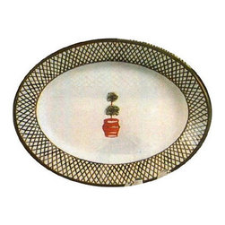 Artistica - Hand Made in Italy - Giardino: Oval Plate - Giada Collection: