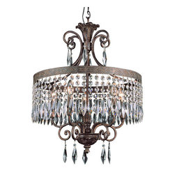 Trans Globe Lighting - Trans Globe Lighting 8395 Crystal 5 Light Chandelier from the Olde World Collect - Five Light Chandelier from theOlde WorldCollection