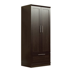 Sauder - Sauder HomePlus Wardrobe Armoire in Dakota Oak Finish - Sauder - Wardrobe Armoires - 411312 - Add function throughout your home with Sauder HomePlus Storage. This multi-purpose multi-function storage system provides the right amount of style to fit any room - and delivers the function to match. Each piece works as a stand alone or in combination with other pieces to provide a built-in look.