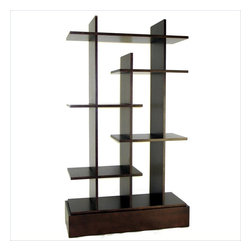Wayborn - Wayborn Hason Display in Brown - Wayborn - Bookcases - 9035
