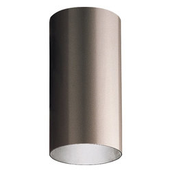 """Progress Lighting - Progress Lighting 6"""" Aluminum Cylinders Outdoor Flush Mount Ceiling Light X-02-1 - The Progress Lighting Aluminum Cylinders Outdoor flush mount ceiling light features a rich powder coated finished frame. With its cylindrical structure, the flush mount ceiling light provides bold lines and clean edges for an architectural appeal. The ceiling light displays a welcoming appeal and charming look for any outdoor application."""