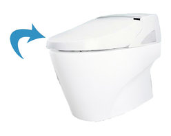 Toto - Toto SN950#01 Cotton White Neorest 500 Washlet Seat - The Toto SN950#01 is a round bowl washlet toilet seat, in the Neorest suite from Toto USA. The Toto SN950#01 comes in cotton white finish