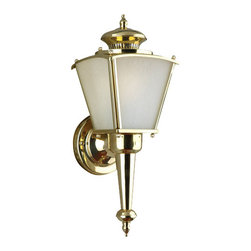 Forte Lighting - Antique Single Light Energy Efficient Fluorescent Outdoor Wall Sconce 5.5Wx15.5H - Antique Single Light Fluorescent Outdoor Wall Sconce