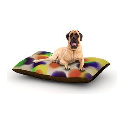 "Kess InHouse - Trebam ""Bomboni"" Blurred Dots Fleece Dog Bed (50"" x 60"") - Pets deserve to be as comfortable as their humans! These dog beds not only give your pet the utmost comfort with their fleece cozy top but they match your house and decor! Kess Inhouse gives your pet some style by adding vivaciously artistic work onto their favorite place to lay, their bed! What's the best part? These are totally machine washable, just unzip the cover and throw it in the washing machine!"
