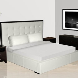 Exclusive Wood Design Bedroom Furniture with Extra Storage - Verona modern bedroom set with white leather storage bed. This contemporary style Bedroom Set will bring the modern charm and dramatic flair to your home decor.