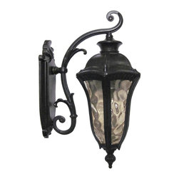Yosemite Home Decor - 326MDIWB Straford 1-Light Outdoor Wall Sconce with Water Glass Shade - Medium - Step back into the days of gas lights and brass fixtures with this antique-inspired outdoor wall sconce. Perfect for flanking a home or garage door, this home accent serves a practical need while adding a touch of class, sophistication, and history to your home. The neutral and classic design complements almost any home exterior, and individuals will find the sconce a far cry from the simple bare bulbs that many homeowners rely on. Instead of harsh light and an unpleasant design, choose a wall sconce that offers soft, attractive light and an attractive design. Crafted from steel, and glass, the outdoor wall sconce can easily stand up to the trials of bad weather. Yosemite Home Decor specializes in elegant, artistic home decor products, and this lighting fixture exemplifies our approach. It's UL and ETL rated, safe and easy to install, and makes an instant difference with quality materials and smart, subtle design. Give your home the lighting fixture it deserves.