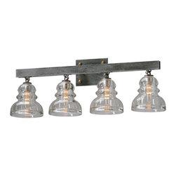 Troy Lighting - Troy Lighting B3954 Menlo Park Old Silver 4 Light Vanity - Troy Lighting B3954 Menlo Park Old Silver 4 Light Vanity