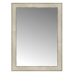 """Posters 2 Prints, LLC - 18"""" x 24"""" Libretto Antique Silver Custom Framed Mirror - 18"""" x 24"""" Custom Framed Mirror made by Posters 2 Prints. Standard glass with unrivaled selection of crafted mirror frames.  Protected with category II safety backing to keep glass fragments together should the mirror be accidentally broken.  Safe arrival guaranteed.  Made in the United States of America"""
