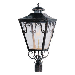 Maxim Lighting - Maxim Lighting 39991CLOI Cordoba Gas Post Lights & Accessories in Oil Rubbed Bro - Cordoba Gas is a traditional, Mediterranean style collection from Maxim Lighting International in Oil Rubbed Bronze finish with Clear glass.