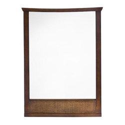 American Standard - American Standard Tropic Wall Mirror, Nutmeg (9212.101.336) - American Standard 9212.101.336 Tropic Wall Mirror, Nutmeg