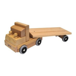 ECR4KIDS Transportation Vehicle - Flat Bed Truck - A beautiful toy that's been durably crafted for active play, the ECR4KIDS Transportation Vehicle – Flat Bed Truck features solid wood construction with beveled edges and rounded corners for safety. The fully open back makes it easy to load and unload anything from blocks to toy cars. Two abstract wood figures are included, and the front has two slots for nesting the drivers. This classic toy comes with a limited lifetime guarantee from ECR4KIDS.About Early Childhood ResourcesEarly Childhood Resources is a wholesale manufacturer of early childhood and educational products. It is committed to developing and distributing only the highest-quality products, ensuring that these products represent the maximum value in the marketplace. Combining its responsibility to the community and its desire to be environmentally conscious, Early Childhood Resources has eliminated almost all of its cardboard waste by implementing commercial Cardboard Shredding equipment in its facilities. You can be assured of maximum value with Early Childhood Resources.