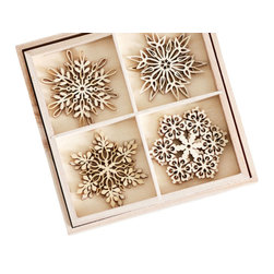 St. Lucia Birch Ornaments - Set of 12 - Cheerful birch snowflakes, lazer cut to perfection, each a lovely rustic touch to this years Christmas tree. Simple and beautiful, these intricate beauties make an ultra thoughtful gift but also will be right at home in your holiday collection. Available in a set of 12 that come in a matching birch box, these decorations can easily become family heirlooms passed on to the next generation for years to come.