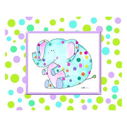 Oh How Cute Kids by Serena Bowman - Groovy Elephant, Ready To Hang Canvas Kid's Wall Decor, 8 X 10 - Each kid is unique in his/her own way, so why shouldn't their wall decor be as well! With our extensive selection of canvas wall art for kids, from princesses to spaceships, from cowboys to traveling girls, we'll help you find that perfect piece for your special one.  Or you can fill the entire room with our imaginative art; every canvas is part of a coordinated series, an easy way to provide a complete and unified look for any room.