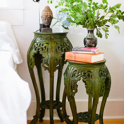 Brilliant Imports : The Bali Collection ~ Furniture - The Occasional Table. It's very impressive when you consider how many jobs a pretty teak table is willing to take on: a side table, an accent table, a mini-bar, a mini-buffet, a stool...So much to do for one little table.