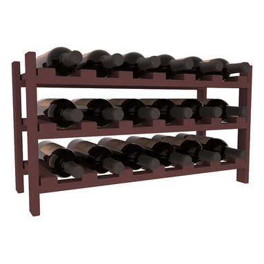 Wine Racks America - 18 Bottle Stackable Wine Rack in Pine, Walnut Stain - Expansion to the next level! Stack these 18 bottle kits as high as the ceiling or place a single one on a counter top. Designed with emphasis on function and flexibility, these DIY wine racks are perfect for young collections and expert connoisseurs.