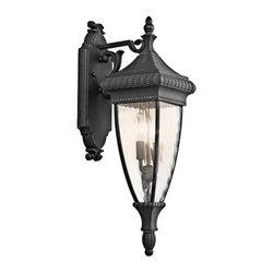 "Kichler - Kichler 49131BKG Venetian Rain Collection 2 Light 25"" Outdoor Wall Light - Kichler 49131 Venetian Rain Outdoor Wall Light"
