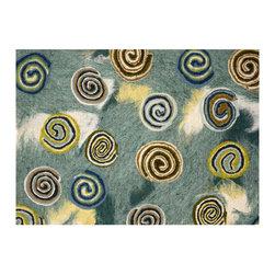 Liora Manne - Liora Manne Swirls Seascape Placemats, Set of 4 -