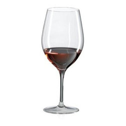 Ravenscroft Amplifier Bordeaux Red Wine Glass - Set of 4 - The Ravenscroft Amplifier Bordeaux Red Wine Glass has a simple stem and large deep cup perfect for your favorite wine. This wine glass is ideal for these grape varietals and wines: Bordeaux Brunello Cabernet Franc Cabernet Sauvignon Merlot and Super Tuscan.Ravenscroft Crystal is the embodiment of old-world European craftsmanship blended with modern understanding of how a wine glass enhances the tasting experience. Each style of glass that Ravenscroft offers is the result of many years of glass-making trial and error. Each type of glass is individually designed and crafted to enhance the bouquet and taste of the wine or spirit for which it was made. The combination of being perfectly formed and light to the touch allows the bouquet to deliver the essence of the wine and spirits to the proper zones of the palate. To reduce the transfer of hazardous toxins into the beverage all Ravenscroft crystal products are lead-free.