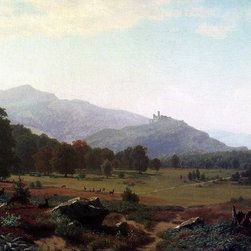 "Albert Bierstadt Autumn in the Conway Meadows Looking towards Mount Washington, - 16"" x 24"" Albert Bierstadt Autumn in the Conway Meadows Looking towards Mount Washington, New Hampshire premium archival print reproduced to meet museum quality standards. Our museum quality archival prints are produced using high-precision print technology for a more accurate reproduction printed on high quality, heavyweight matte presentation paper with fade-resistant, archival inks. Our progressive business model allows us to offer works of art to you at the best wholesale pricing, significantly less than art gallery prices, affordable to all. This line of artwork is produced with extra white border space (if you choose to have it framed, for your framer to work with to frame properly or utilize a larger mat and/or frame).  We present a comprehensive collection of exceptional art reproductions byAlbert Bierstadt."