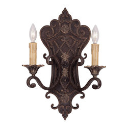 Savoy House - Savoy House Southerby Wall Sconce in Warm Brass - Shown in picture: A favorite of Savoy House designers - this full family finished in Florencian Bronze with cream beeswax candle covers features incredibly intricate cast iron banding. Southerby is a classic example of graceful Southern elegance mixed with a touch of European flair.